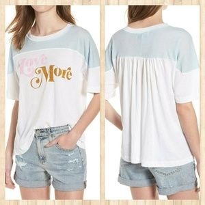 NWT WILDFOX GRAPHIC TEE VERY WIDE LOVE MORE